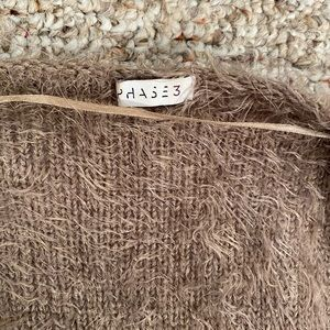 Phase 3 Sweaters - Brown Waterfall Sweater Shrug Vest